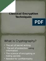 2.0 Classical Encryption Techniques