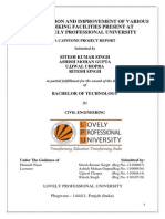 ESTIMATION AND IMPROVEMENT OF VARIOUS PARKING FACILITIES PRESENT AT LOVELY PROFESSIONAL UNIVERSITY