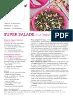SUPER SALADE aux légumes hachés