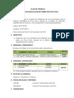 Plan de Trabajo Comision Tambo de Puca Puca