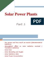 Solar Power Plants Part1