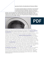 Waschmaschinen Reparatur Berlin Kundendienst Siemens Miele und Bosch