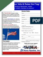 Raise the Flag Campaign Flyer