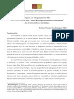 Programa Seminario 2015 de Nora Domínguez | Área de formación teórico-metodológica