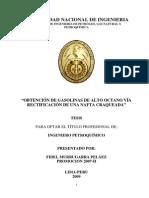 Tesis - Obtencion de Gasolinas de Alto Octano via Rectificacion de Una Nafta Craqueada