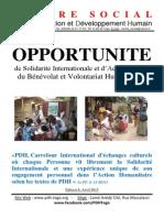 Opportunité de Solidarité Internationale et d Action Sociale du Bénévolat et Volontariat Humanitaires Edition 8 Avril 2015 2.pdf