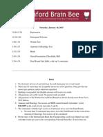 Program--Stanford Brain Bee 2015