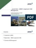 Beyond Zero - AMEC Stuart Bailey