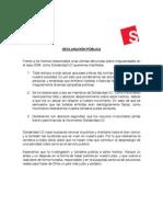 Declaración respecto a SQM