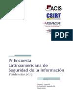 Encuesta Sobre Seguridad Informatica, Latinoamerica 2012
