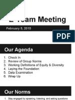 e-team meeting 2