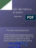 Producción del hierro y el acero