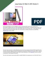 Comparativa, Samsung Galaxy S3 Mini Vs HTC Desire X