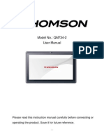 Thomson Tablet QM734 User Manual