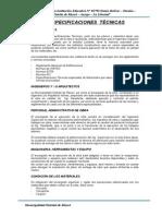 Especificaciones Técnicas I.E. Simón Bolivar