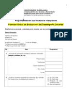 Nuevo Formato de Evaluacion Por Alumnos en El Ectrónico