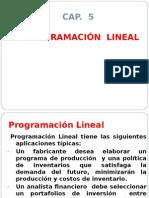 Cap 5 Programacion Lineal