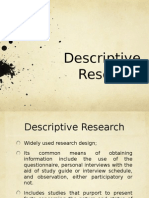 Methodology and Descriptive Research