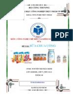Tiểu Luận Sữa Chua Uống Nhóm 6 Thứ 5 Tiết 10-12