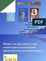 Симмерия в русском языке