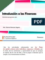 Sesión 1 - Introducción a Las Finanzas