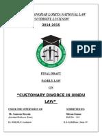Family Law- Customary Divorce