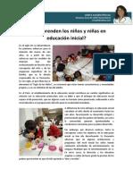 Que Aprenden Los Ninos y Ninas en Educacion Inic