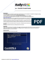 CentOS 6 Install Guide