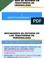 Iria González Mecanismos de Defensa en Los Trastornos de Personalidad