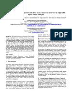 Control Ofcurrentcontroller Grid Connectedinverters in Adjustable Speed Power Energies