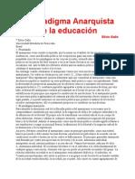 El Paradigma Anarquista de La Educación