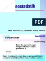 Kuliah Pertama Geostatistik
