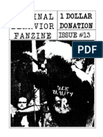 Criminal Behavior Fanzine, Issue 13