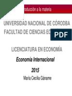 Economía Internacional FCE UNC Capitulo 1 GANAME 2015