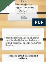 Gaya Pembelajaran Bangsa Kadazan Dusun