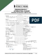 MD_pembahasan Ps1_MAT DASAR_superintensif SBMPTN 2013