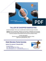Taller de shopper marketing por Susana Marquis y Eduardo Sebriano, Montevideo Uruguay