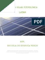 Energía Solar Fotovoltaica. Latam. Índice