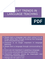 Current Trends in Language Teaching
