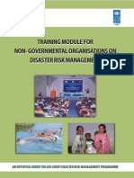 Training Module for Non Governmental Organisations on Disaster Risk Management