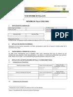 Anexo 2 Informe de Falla