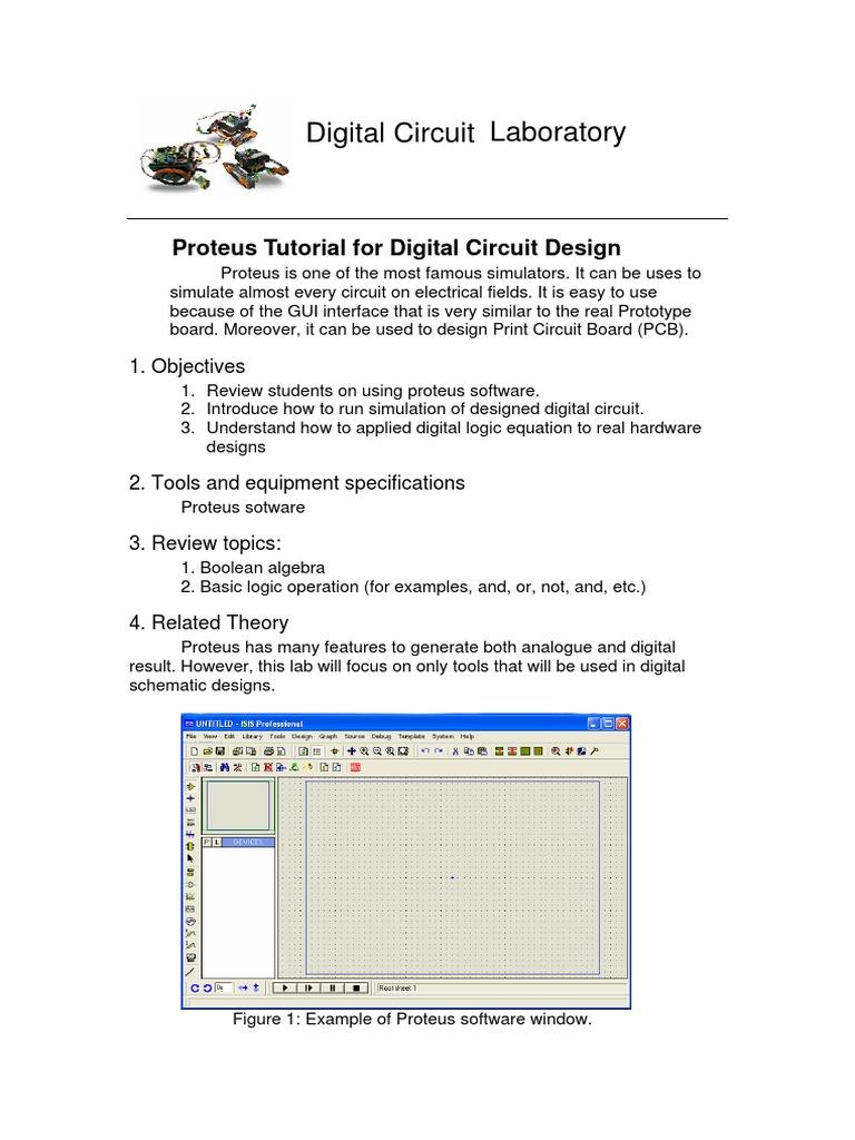 File 1 Proteus Tutorial for Digital Circuit Design pdf