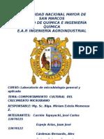 Informe Numro 4 Comportamiento Cultural de Microorganismo
