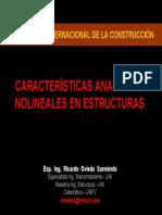 Caracteristicas Analiticas No Lineales de La Estructura