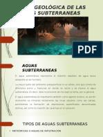 Acciòn Geològica de Las Aguas Subterraneas