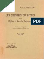 Blavatsky Helena - Les origines du rituel dans l'Eglise et dans la maçonnerie.pdf