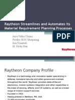 Case Study MRP - Raytheon (Kelompok 4)