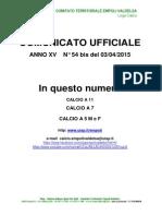 C.U. 54BIS  DEL 03.04.2015