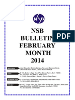 Nsb Bulletin Feb. 2014