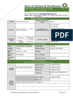 AUST CV Application Form English